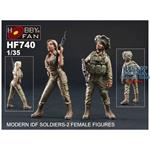 Modern IDF Soldiers - 2 Female Figures