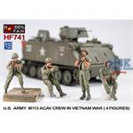 U.S. Army M113 ACAV crew in Vietnam war (4 Fig)