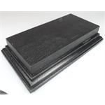 Holzsockel (doppelt hoch), 20 x 11cm, schwarz