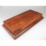 Holzsockel (doppelt hoch), 25 x 13cm, Mahagoni