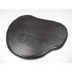 Holzsockel, unregelmäßig Form 1, 24cm, schwarz