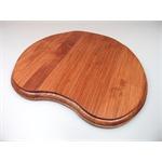 Holzsockel, unregelmäßig Form 2, 28cm, Mahagoni