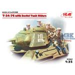 T34/76 with soviet tank riders