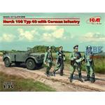 Horch 108 Typ 40 mit deutscher Infanterie