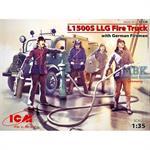 Mercedes L1500 LLG Feuerwehr w/ Crew