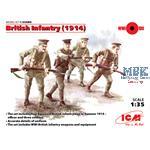 WWI Britische Infanterie, 4 Figuren
