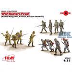 WWI Ostfront, 12 Figuren, Deutsche Russen KuK