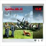 Spitfire Mk.IX with RAF Pilots & Ground Personnel