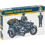 Motorrad Gespann Zündapp KS750  1:35