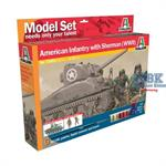 M4 Sherman & US Infantry Model Set