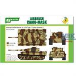 Airbrush CAMO-MASK Tiger I Camo Scheme 2