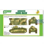 Airbrush CAMO-MASK Char B1 bis Camo Scheme 1