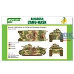 Airbrush CAMO-MASK Char B1 bis Camo Scheme 2
