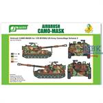 Airbrush CAMO-MASK US Army M109A2 Scheme #2