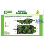 Airbrush CAMO-MASK Swedish Strv 103C