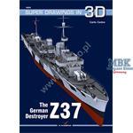 Kagero Super Drawings in 3D German Destroyer Z37