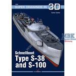 Kagero Super Drawings 3D Schnellboot S38 & S100