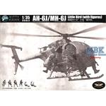AH-6J Little Bird with 6 resin figures 1:35