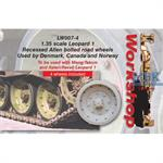 Leopard 1 recessed Allen bolted road wheels