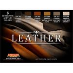 Leather Set    Farbset,  6x22ml