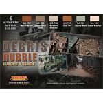 Debris and Rubble European Village Farbset,6x22ml