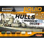 Weathering Set   Hulls and Decks   6x22ml
