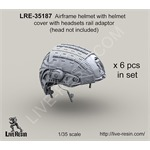 Airframe helmet w helmet cover with headsets rail