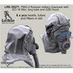 PMG-2 Russian military Gasmask long tube OZK Hood