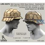 M42 Helmet , classic chinstrap + wire type II