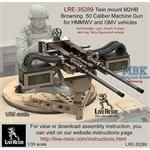 Twin mount M2 Browning .50 Cal MG for HMMWV GMV