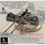 Twin mount M2E1 Browning .50 Cal MG for HMMWV GMV