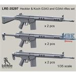 Heckler & Koch G3A3 and G3A4 rifles set