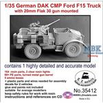 German CMP Ford F15 Truck with 20mm Flak 30 gun mt