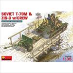 Russian T-70 M & ZIS-3 w/Crew