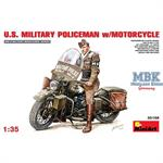 U.S.  MILITARY POLICEMAN  w/MOTORCYCLE