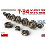 T-34 Wheels set. 1942-43 series