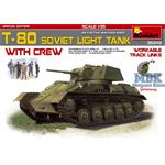 T-80 Soviet light tank w/Crew. Special Edition