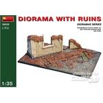 Diorama mit Ruine