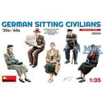 German sitting Civilians 30-40's