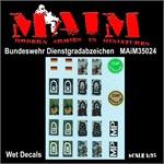 BW Dienstgradabzeichen/Schulterklappen / 1:35