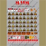 Industrial Danger & Warning Signs - Decal Set