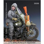 US WW2 Motorcycle WLA Rider
