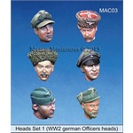 Heads Set 1 (WW2 german Officers heads)