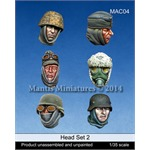Heads Set 2 (WW2 German Soldier heads)