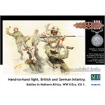 Hand-to-hand fight British and German Infantry
