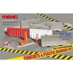 Concrete & Plastic Barrier Set