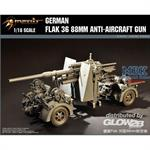 German Flak 36 88mm Anti-Aircraft Gun in 1:18