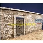 Mauerstück mit Tür, Normandie 1:35