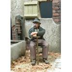 Großvater sitzt auf einem Stuhl, inkl. Stuhl  1:35