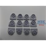 M3 Lee/Grant Intermediate Pattern Road Wheels
